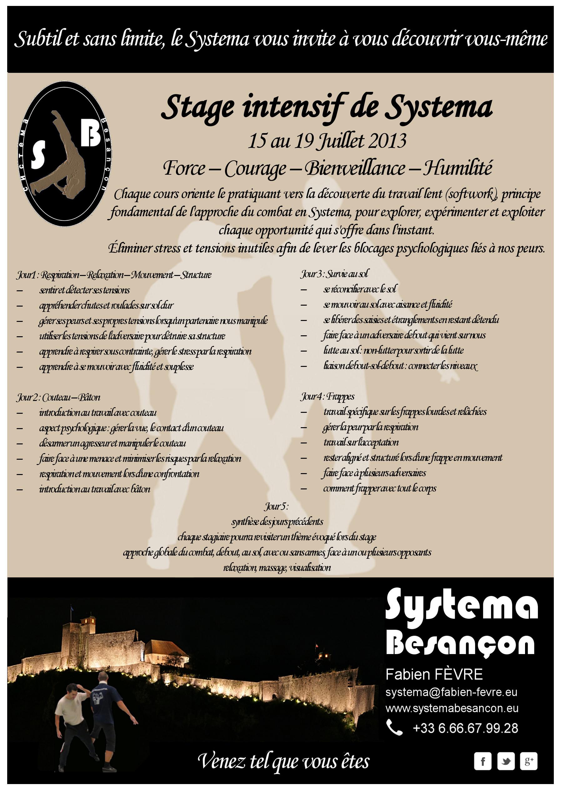 FlyerStageBesacJuillet13programme
