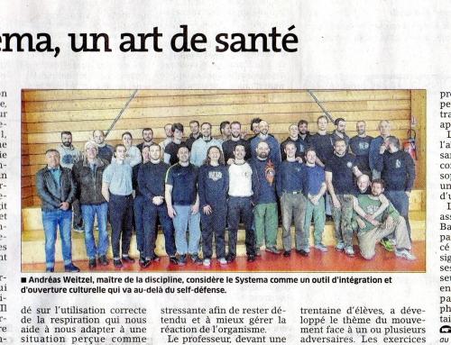 Le systema comme outil d'intégration et d'ouverture culturelle (Est Républicain, 3/5/2016)